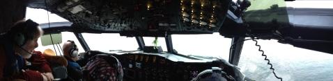 Cockpit of a NOAA P3.